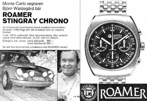 Roamer Stingray Chrono Watches of Lancashire