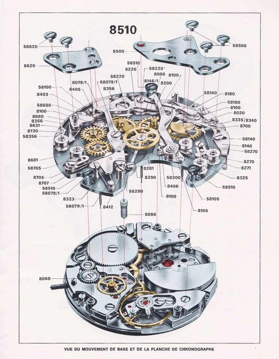 Calibre-11-1969-exploded-view