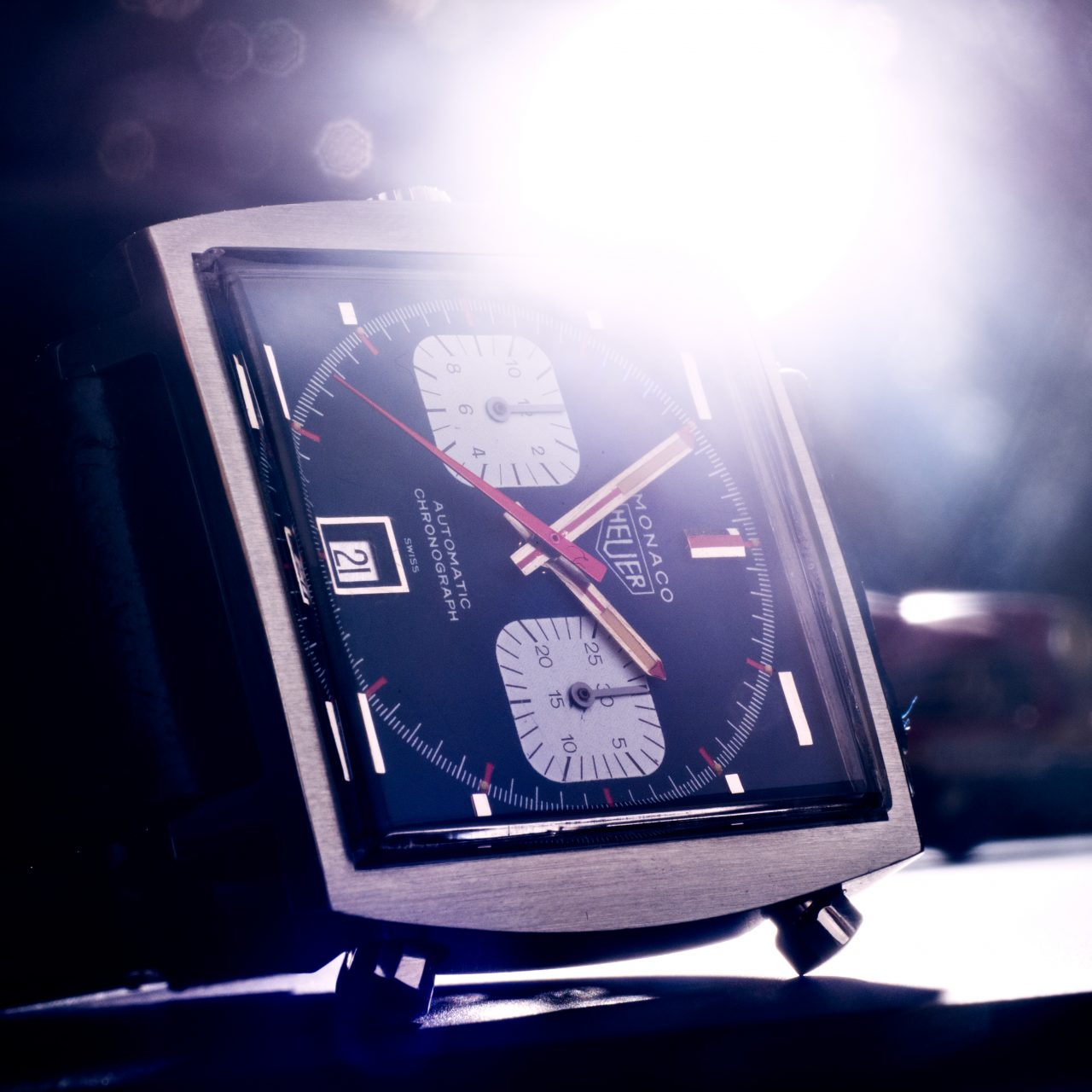 Heuer Monaco Glow Watches of Lancashire