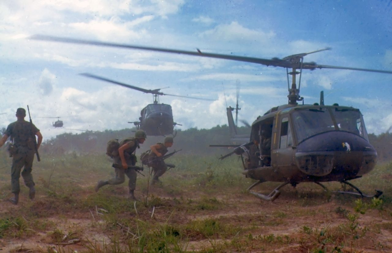 1966 USA airforce Helicopters in Vietnam