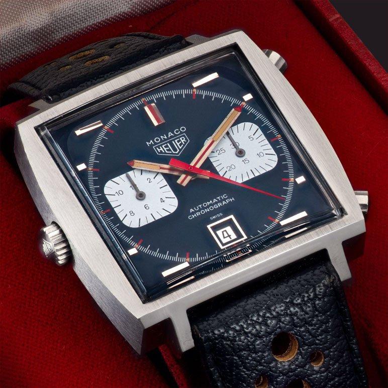 Vintage watch Heuer Monaco